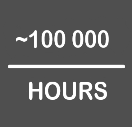 ~100000hours