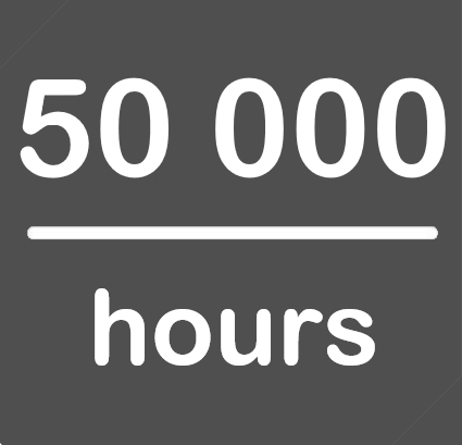 50000hours.