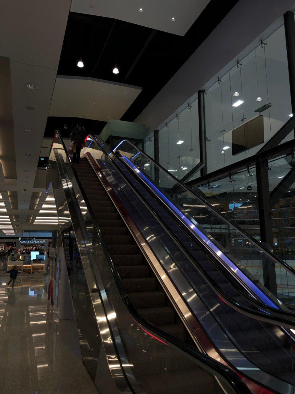 Escalator Lighting In Ping Mall Akropole Riga Aip